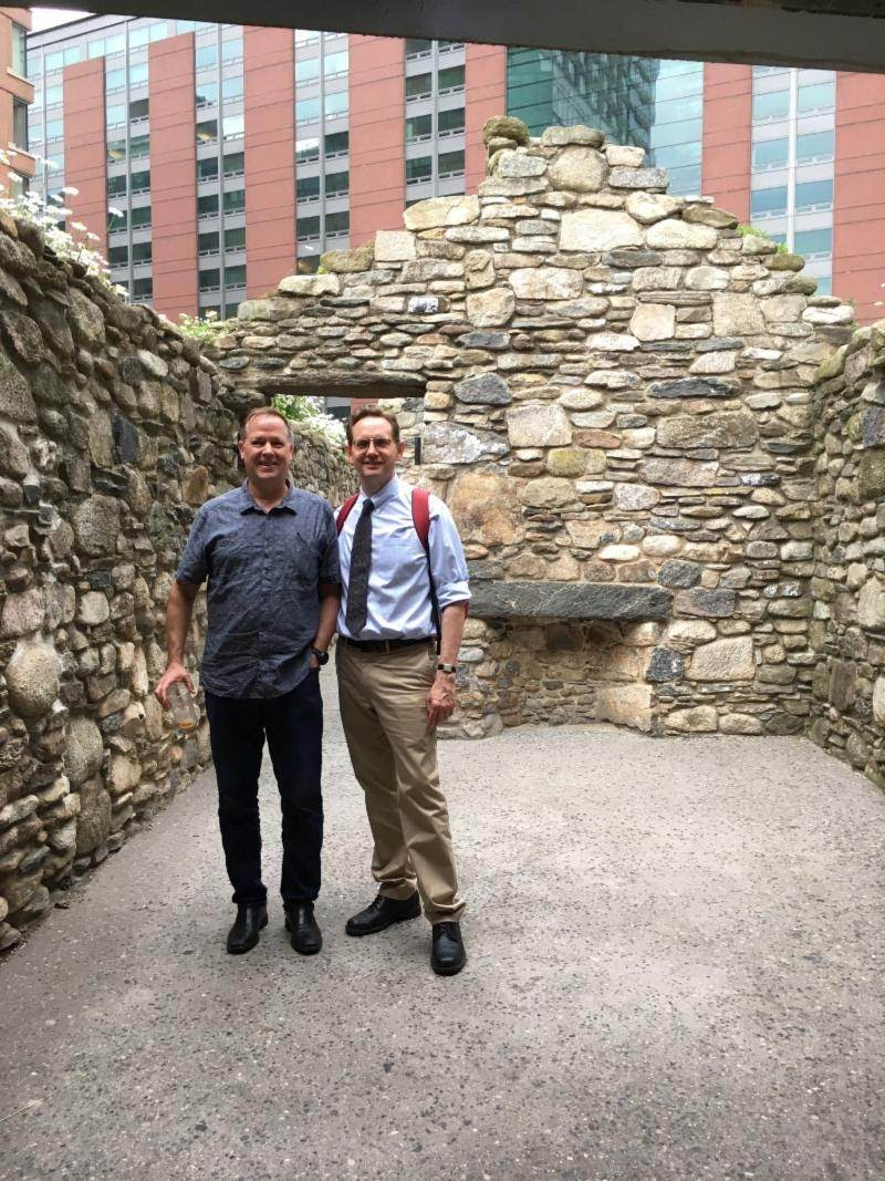 Charlie Stuard '82 and Larry Frye in NYC