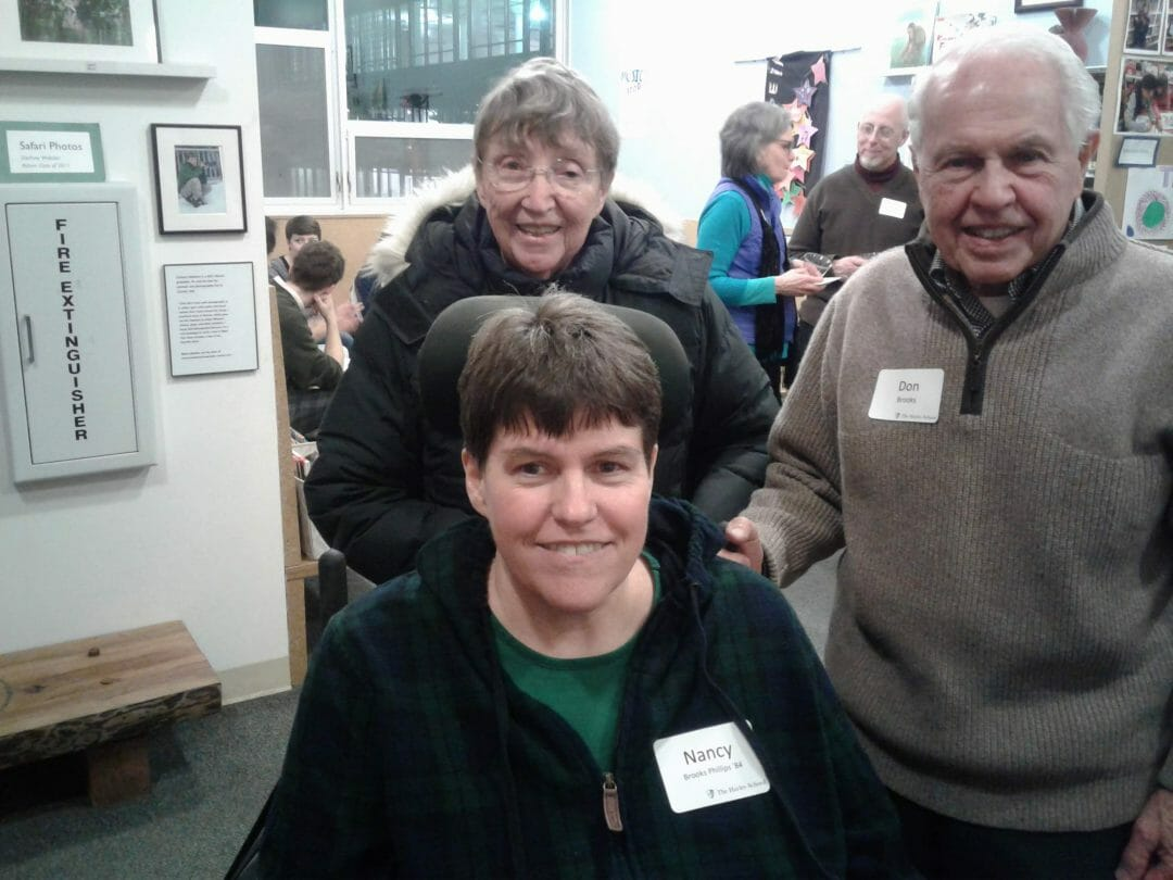 Susie Mees Longfield '82, Nancy Brooks Phillips '84, Don and Ginny Brooks