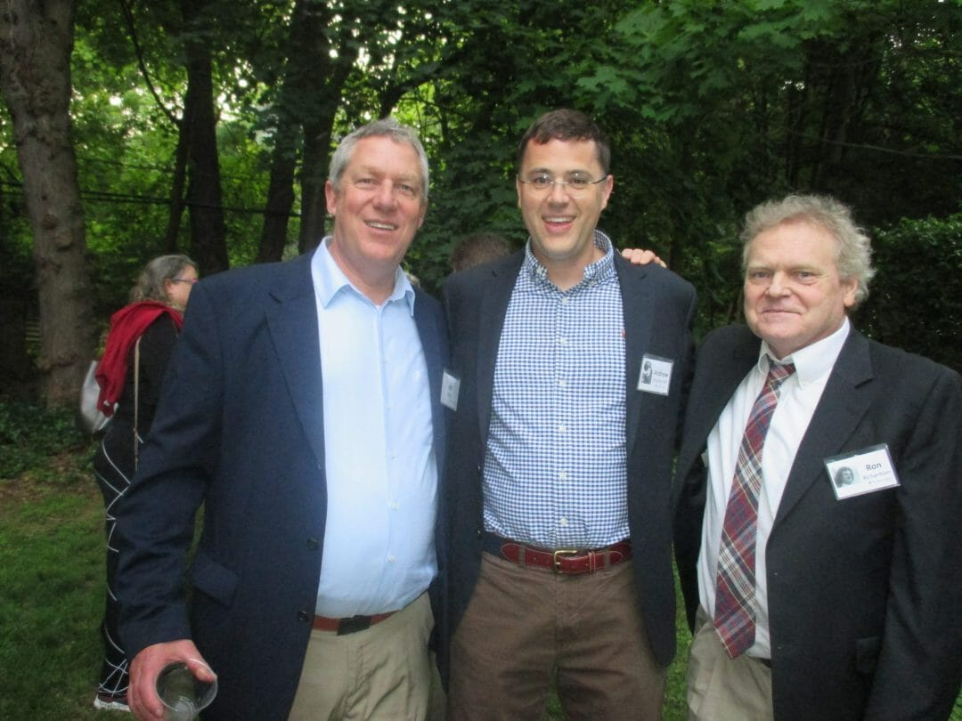 Bill Baker, Andrew Flinders '89, and former faculty Ron Richardson